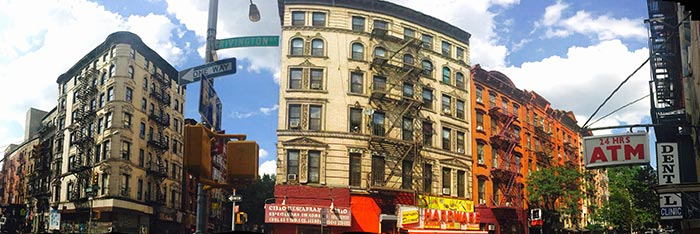 Lower East Side in New York - Panoramic View