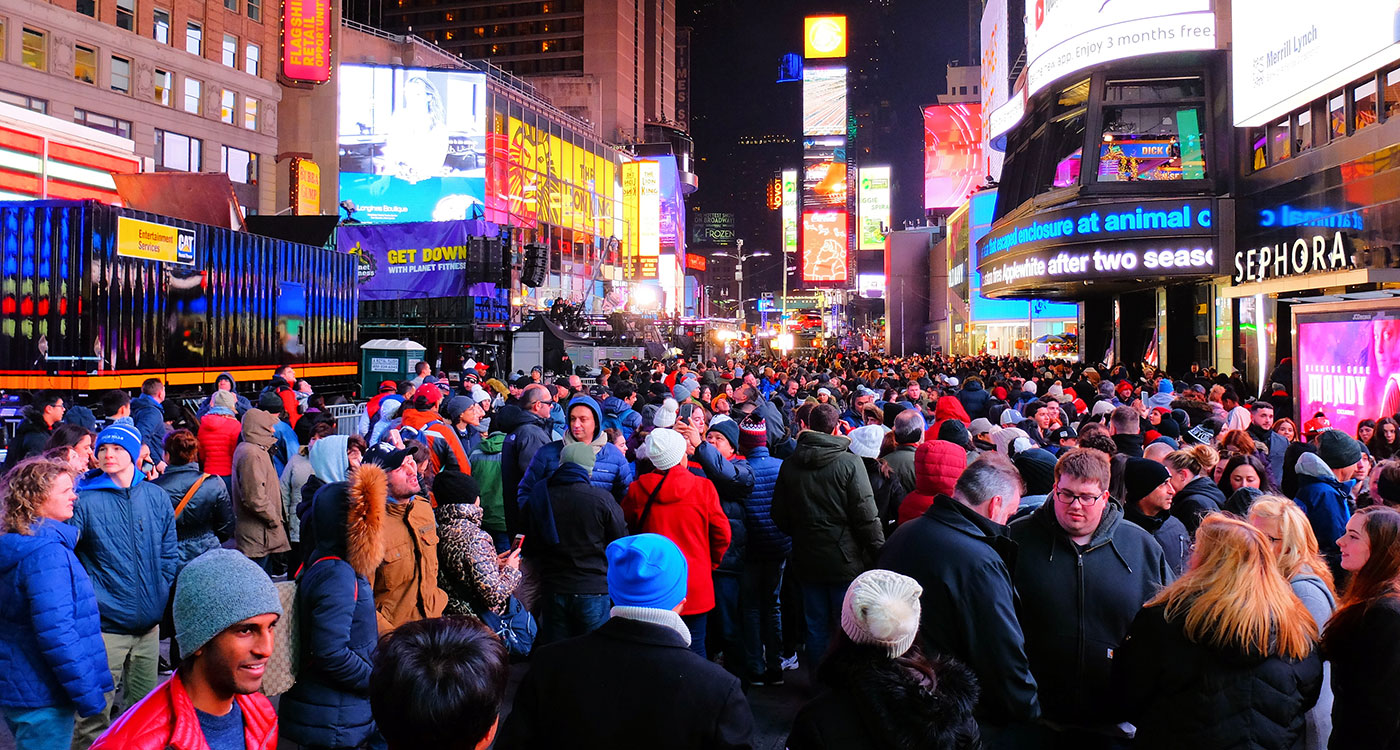 New Year's Eve in New York - Crowd on Times Square