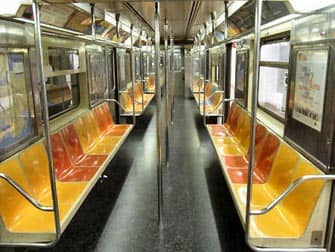 New York Subway Train Seats