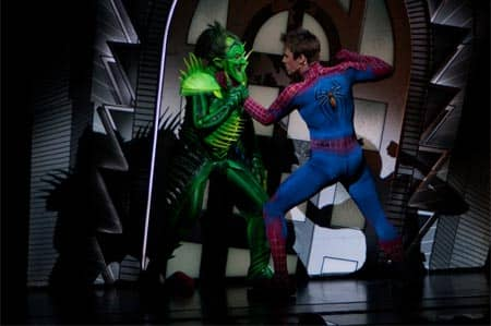 Spiderman the musical on Broadway