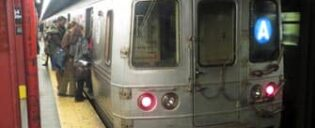 The A train in New York