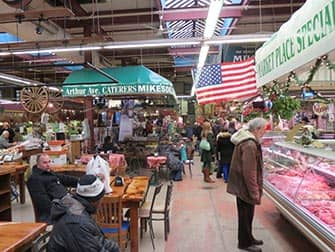 The Bronx in NYC - market in Little Italy