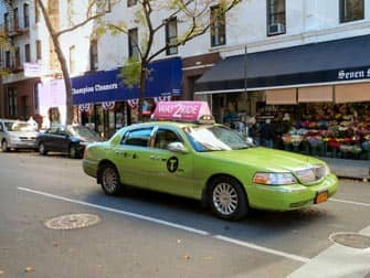limegreen taxi in new york
