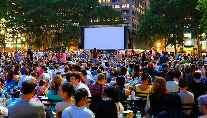 Free Films in Bryant Park - Movie Night