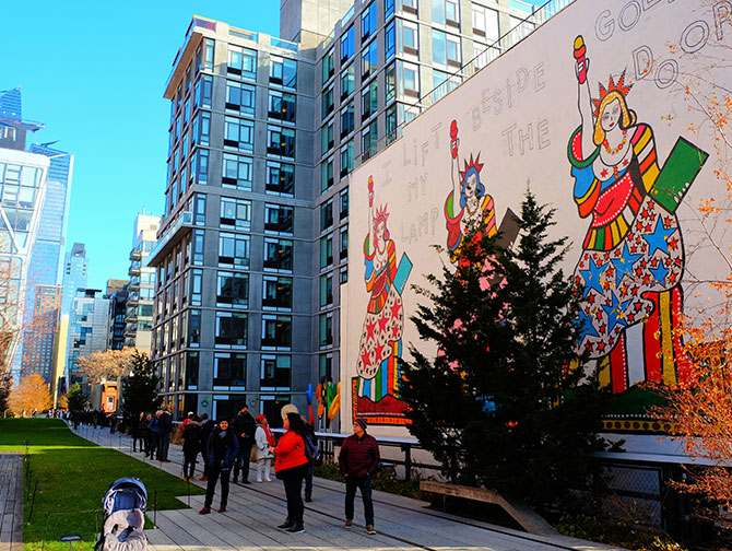 High Line Park in New York - Mural