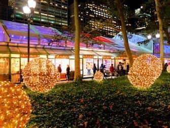 New York Markets - Bryant Park Decorations