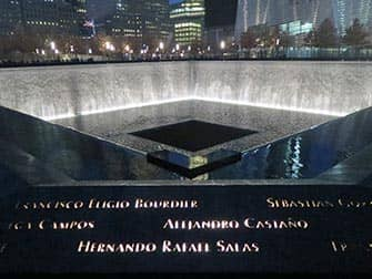 9/11 Memorial by night in New York