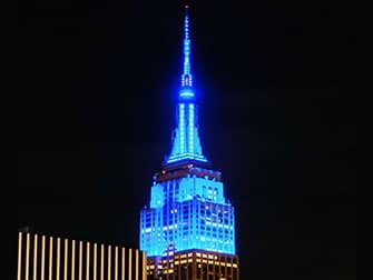 Empire State Building Tickets - Blue Lights