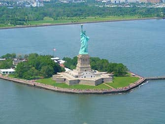 Statue of Liberty - Aerial View