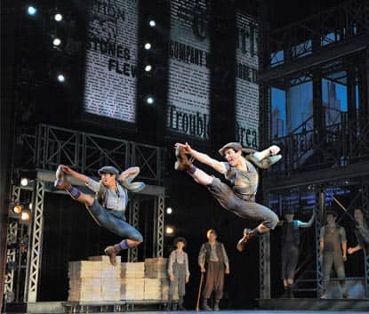 The Musical Newsies on Broadway in New York