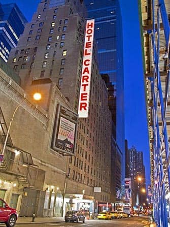Carter Hotel in NYC - At night