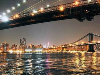 Parks in New York - Brooklyn Bridge at night