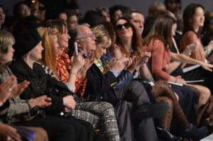 Front row at the new york couture fashion week
