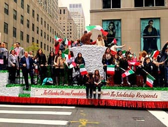 Columbus Day in New York - Italian students