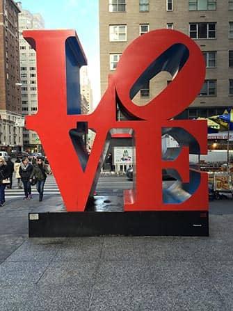 Valentine's Day in New York - LOVE Sculpture