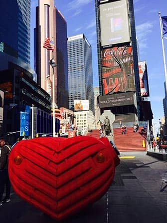 Valentine's Day in New York - Times Square