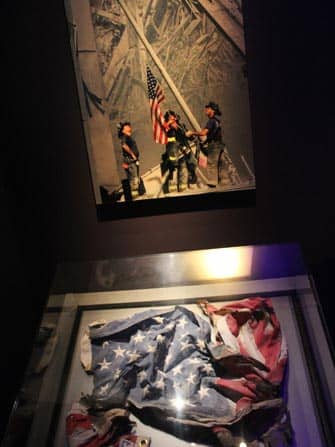 911 Museum in New York - American Flag