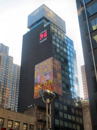 citizenM times square hotel building in new york city