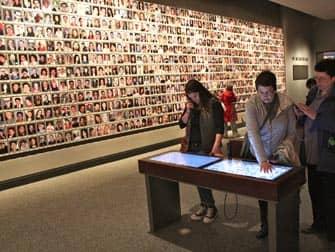911 Museum in New York - Memorial Wall