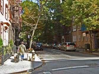 Grove and Bedford in Greenwich Village New York