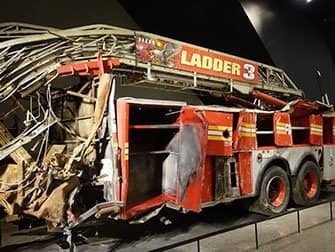 911 Museum in New York - Fire truck