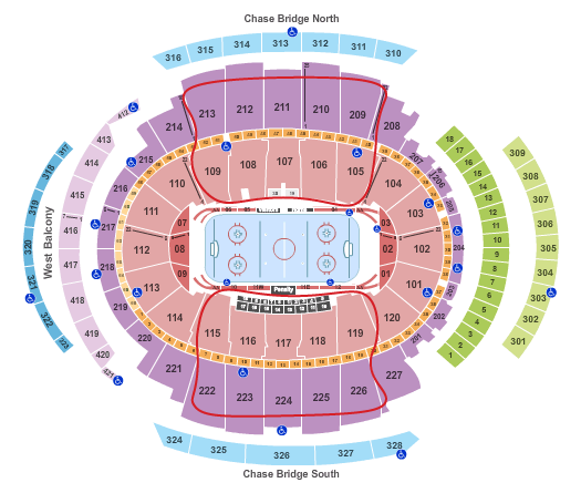 New York Rangers Tickets - Madison Square Garden Seating Chart