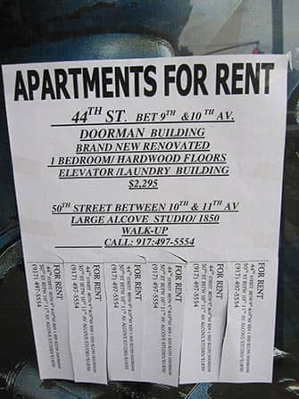 Working and Living in NYC - Apartments for Rent Ad