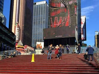 Glee Tour in New York - Stairs at Times Square