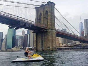 Jet skiing in New York