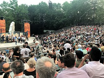 Shakespeare in the Park in New York - Audience