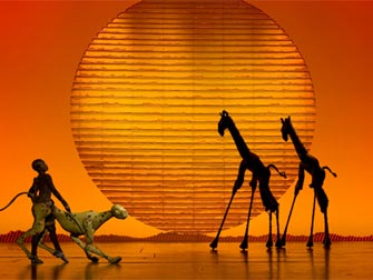 Theater District in New York - The Lion King