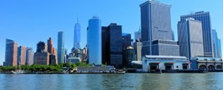 Lower Manhattan and the Financial District in New York