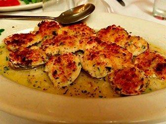 Carmine's Family Restaurant in New York - Baked Clams