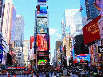 Superheroes Tour in New York - Times Square