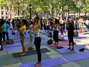 Free Yoga in Bryant Park