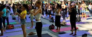 Free Yoga in Bryant Park