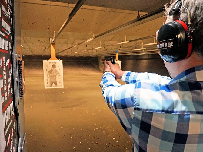 Shooting Range in New York - Pointing the Gun